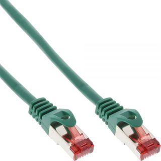 (€1,19*/1m) 7.50m InLine Cat. 6 Patchkabel S/FTP PiMF RJ45 Stecker auf RJ45 Stecker Grün halogenfrei
