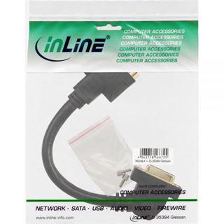 (€44,50*/1m) 0.20m InLine DVI-I Verlängerungskabel DVI 24+5 Buchse auf DVI 24+5 Buchse Schwarz vergoldet