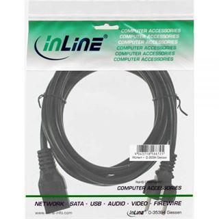 (€5,93*/1m) 1.50m InLine Stromkabel Schutzkontakt Stecker auf Kaltgeräte Stecker C19 Schwarz Schutzkontakt