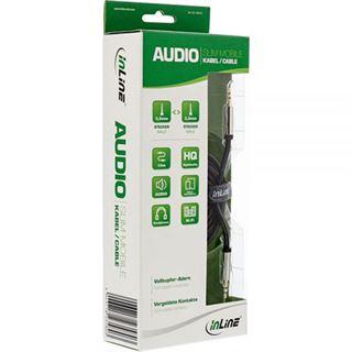 (€0,79*/1m) 10.00m InLine Audio Anschlusskabel 3.5mm Klinken-Stecker auf 3.5mm Klinken-Stecker Schwarz Slim