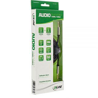 (€2,30*/1m) 3.00m InLine Audio Anschlusskabel 3.5mm Klinken-Stecker auf 3.5mm Klinken-Stecker Schwarz Slim