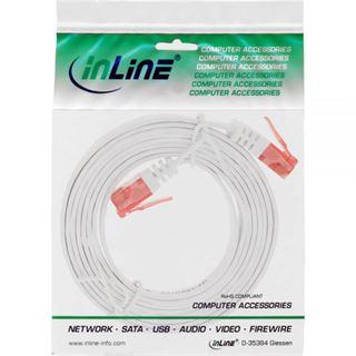(€2,60*/1m) 1.50m InLine Cat. 6 Patchkabel flach U/UTP RJ45 Stecker auf RJ45 Stecker Weiß