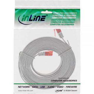 (€7,80*/1m) 0.50m InLine Cat. 6 Patchkabel flach U/UTP RJ45 Stecker auf RJ45 Stecker Grau