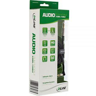 (€0,79*/1m) 10.00m InLine Audio Anschlusskabel gewinkelt 3.5mm Klinken-Stecker auf 3.5mm Klinken-Stecker Schwarz Slim