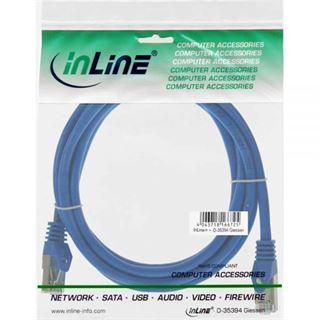 (€2,60*/1m) 1.50m InLine Cat. 5e Patchkabel F/UTP RJ45 Stecker auf RJ45 Stecker Blau
