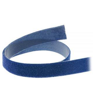 InLine Kabelbinder, Klettverschlussband 16mm, blau, 10m
