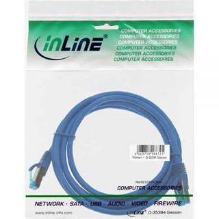 (€3,27*/1m) 1.50m InLine Cat. 6a Patchkabel S/FTP PiMF RJ45 Stecker auf RJ45 Stecker Blau halogenfrei