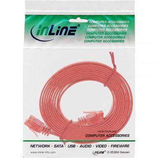 (€0,99*/1m) 7.00m InLine Cat. 6 Patchkabel flach U/UTP RJ45 Stecker auf RJ45 Stecker Rot