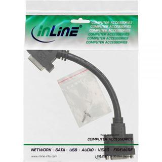 (€49,50*/1m) 0.20m InLine DVI-I Verlängerungskabel DVI 24+5 Buchse auf DVI 24+5 Buchse Schwarz