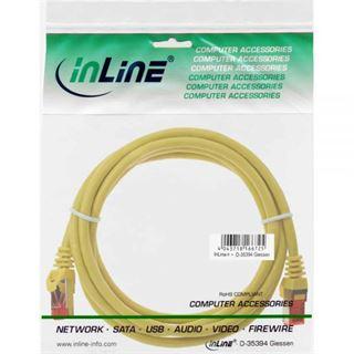 (€13,00*/1m) 0.30m InLine Cat. 6 Patchkabel S/FTP PiMF RJ45 Stecker auf RJ45 Stecker Gelb CCA
