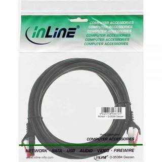 (€13,00*/1m) 0.30m InLine Cat. 6 Patchkabel S/FTP PiMF RJ45 Stecker auf RJ45 Stecker Schwarz PVC / CCA