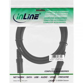 (€13,00*/1m) 0.30m InLine Audio Anschlusskabel 3.5mm Klinken-Stecker auf 3.5mm Klinken-Stecker Schwarz