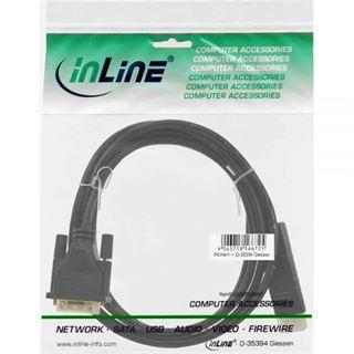 (€10,90*/1m) 1.00m InLine Displayport Adapterkabel Displayport Stecker auf DVI 24+1 Stecker Schwarz vergoldet