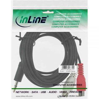 (€3,90*/1m) 1.00m InLine Audio Adapterkabel 3.5mm Klinke Buchse Stereo auf 2xCinch Buchse Schwarz