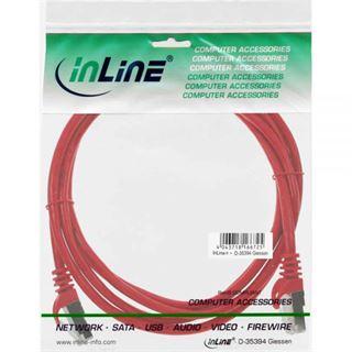 (€13,00*/1m) 0.30m InLine Cat. 5e Patchkabel F/UTP RJ45 Stecker auf RJ45 Stecker Rot