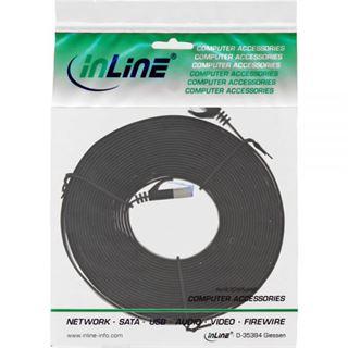 (€0,99*/1m) 7.00m InLine Cat. 6a Patchkabel flach U/FTP RJ45 Stecker auf RJ45 Stecker Schwarz