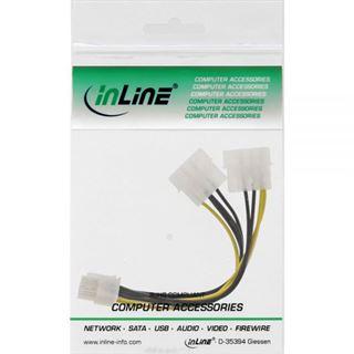 InLine Stromadapter intern, 2x 4pol zu 8pol für PCIe (PCI-Express) Grafikkarten, 0,15m
