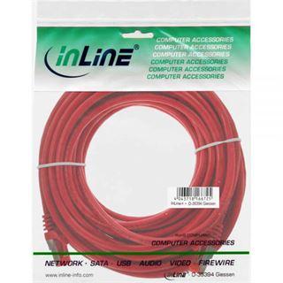 (€0,69*/1m) 10.00m InLine Cat. 6 Patchkabel S/FTP PiMF RJ45 Stecker auf RJ45 Stecker Rot PVC