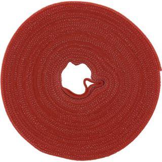 InLine Kabelbinder, Klettverschlussband 16mm, rot, 10m