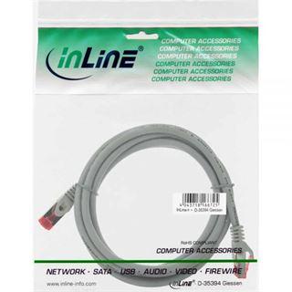 (€15,60*/1m) 0.25m InLine Cat. 6 Patchkabel S/FTP PiMF RJ45 Stecker auf RJ45 Stecker Grau halogenfrei