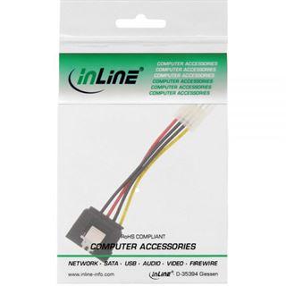"""InLine SATA Stromadapterkabel, 1x 8,89cm (3,5"""") Buchse an 15pol SATA Stecker mit Lasche, 6cm"""
