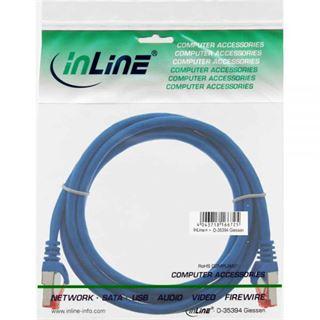 1.50m InLine Cat. 6 Patchkabel S/FTP PiMF RJ45 Stecker auf RJ45 Stecker Blau Kupfer / PVC