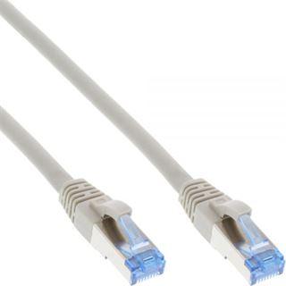 (€1,15*/1m) 20.00m InLine Cat. 6a Patchkabel S/FTP PiMF RJ45 Stecker auf RJ45 Stecker Grau halogenfrei