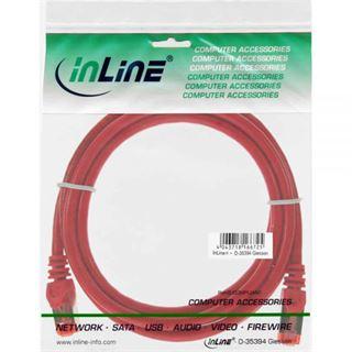 (€3,90*/1m) 1.00m InLine Cat. 6 Patchkabel S/FTP PiMF RJ45 Stecker auf RJ45 Stecker Rot CCA / halogenfrei / Kupfer / PVC
