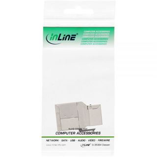 InLine Cat. 6a Kupplung Keystone RJ45 Buchse auf RJ45 Buchse Silber Einbaubuchse