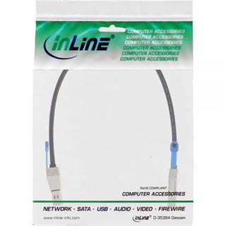 (€165,80*/1m) 0.50m InLine SAS 12Gb/s Anschlusskabel SFF-8644 Stecker auf SFF-8644 Stecker Schwarz