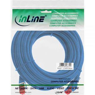 40.00m InLine Cat. 6 Patchkabel S/FTP PiMF RJ45 Stecker auf RJ45 Stecker Blau Kupfer / PVC