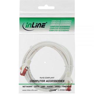 (€3,27*/1m) 1.50m InLine Cat. 6 Patchkabel S/FTP RJ45 Stecker auf RJ45 Stecker Weiß halogenfrei / Knickschutzelement / Rastnasenschutz