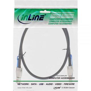 (€85,90*/1m) 1.00m InLine SAS 12Gb/s Anschlusskabel SFF-8644 Stecker auf SFF-8644 Stecker Schwarz