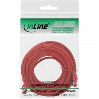(€0,99*/1m) 10.00m InLine Cat. 6 Patchkabel S/FTP PiMF RJ45 Stecker auf RJ45 Stecker Rot halogenfrei