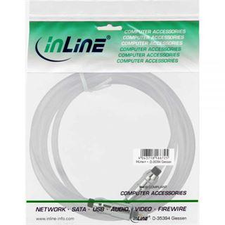 (€1,41*/1m) 7.00m InLine Audio Anschlusskabel Toslink Stecker auf Toslink Stecker Transparent