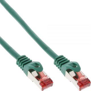 (€15,60*/1m) 0.25m InLine Cat. 6 Patchkabel S/FTP PiMF RJ45 Stecker auf RJ45 Stecker Grün halogenfrei