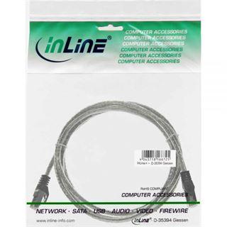 (€0,98*/1m) 5.00m InLine Cat. 5e Patchkabel SF/UTP RJ45 Stecker auf RJ45 Stecker Transparent