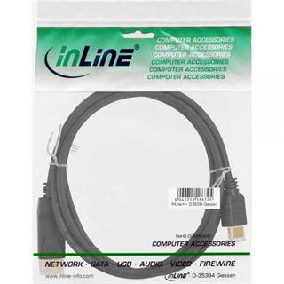 (€9,90*/1m) 1.00m InLine Displayport 1.1 Adapterkabel Displayport Stecker auf HDMI-Stecker Schwarz vergoldet