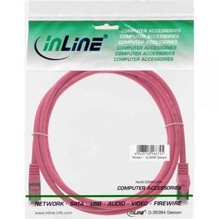 (€2,60*/1m) 1.50m InLine Cat. 5e Patchkabel SF/UTP RJ45 Stecker auf RJ45 Stecker Pink