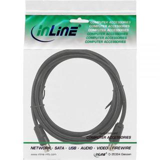 (€0,31*/1m) 5.00m InLine Antenne Anschlusskabel doppelt geschirmt IEC-Stecker auf IEC-Buchse Schwarz vernickelt