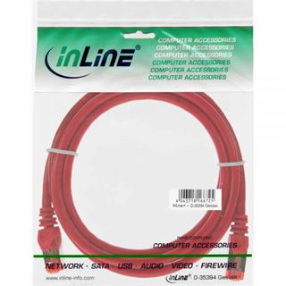 (€0,56*/1m) 25.00m InLine Cat. 6 Patchkabel S/FTP PiMF RJ45 Stecker auf RJ45 Stecker Rot Kupfer / PVC