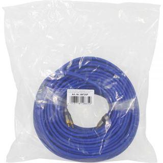 (€2,08*/1m) 25.00m InLine Audio Anschlusskabel Premium-Line 2xCinch Stecker auf 2xCinch Stecker Blau vergoldete Stecker
