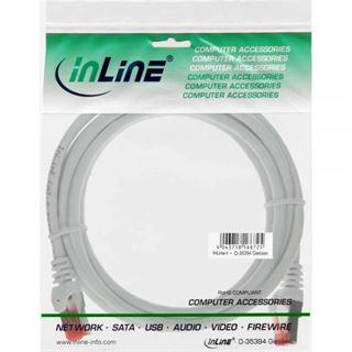 (€15,60*/1m) 0.25m InLine Cat. 6 Patchkabel S/FTP PiMF RJ45 Stecker auf RJ45 Stecker Weiß PVC