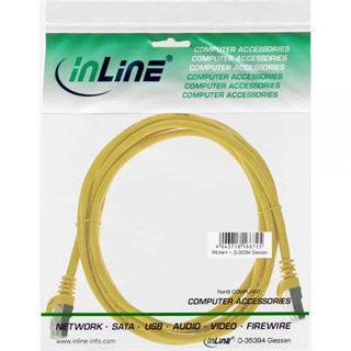 (€13,00*/1m) 0.30m InLine Cat. 5e Patchkabel F/UTP RJ45 Stecker auf RJ45 Stecker Gelb
