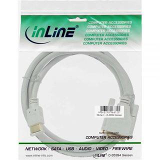 (€2,22*/1m) 3.00m InLine HDMI Adapterkabel HDMI-Stecker auf DVI 18+1 Stecker Weiß vergoldet