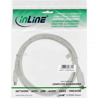 (€3,38*/1m) 5.00m InLine Displayport Adapterkabel Mini Displayport Stecker auf HDMI-Stecker Schwarz vergoldet