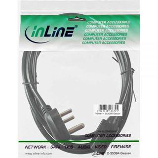 (€2,72*/1m) 1.80m InLine Stromkabel Stecker Südafrika auf Kaltgeräte Stecker C13 Schwarz