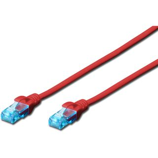 (€2,45*/1m) 2.00m Digitus Cat. 5e Patchkabel U/UTP RJ45 Stecker auf RJ45 Stecker Rot