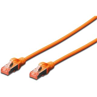 (€4,90*/1m) 1.00m Digitus Cat. 6 Patchkabel S/FTP RJ45 Stecker auf RJ45 Stecker Orange