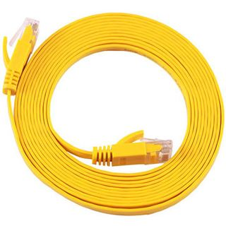(€13,80*/1m) 0.50m Equip Cat. 6a Patchkabel flach STP RJ45 Stecker auf RJ45 Stecker Gelb